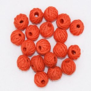 Orange Cotton Thread Beads