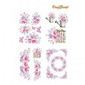 Craftreat Decoupage Paper - Pink Peonies