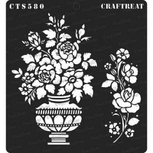 CrafTreat Stencil - Rose Vase