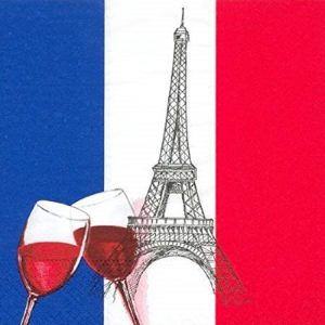 France Theme Decoupage Napkin