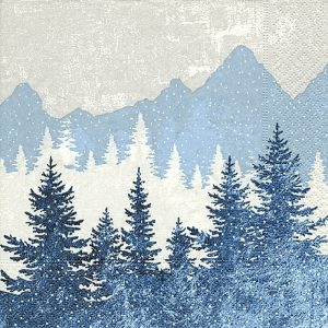 Blue Mountain Decoupage Napkin
