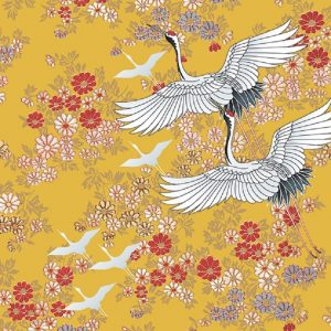 Flying Birds With Yellow Flower Background Decoupage Napkin