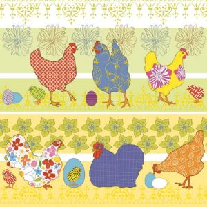 Colorful Chicken Decoupage Napkin