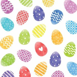 Colorful Easter Eggs Decoupage Napkin