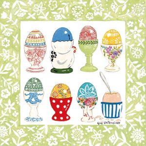 Easter Eggs In Cups Decoupage Napkin
