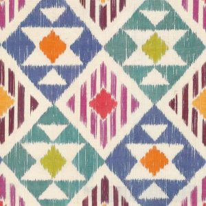 Mixed Colour Ikat Pattern Decoupage Napkin