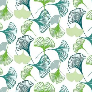 Fan Pattern Green Leaf Decoupage Napkin