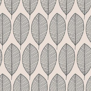 Oval Leaves In Grey Decoupage Napkin