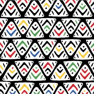 Black Line Triangle Decoupage Napkin