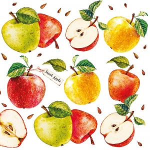 Colourful Sweet Apples Decoupage Napkin