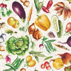 Mixed Colourful Vegetables Decoupage Napkin