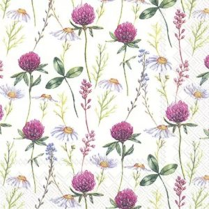 Small Bunch Of Purple Flowers Decoupage Napkin