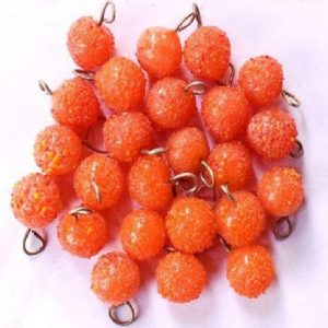Orange Glass Round Drop Charms