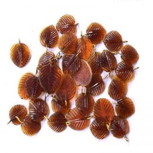 Brown Glass Leaf Shape Charms