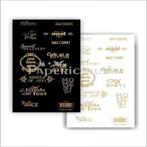 Gold Foil Embellishment Sheets - Cutie Pie