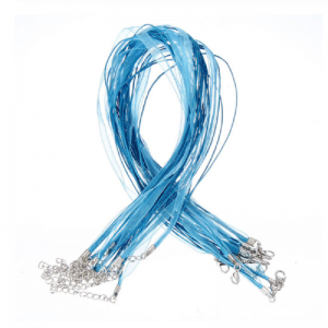 Blue Organza Ribbon Cord