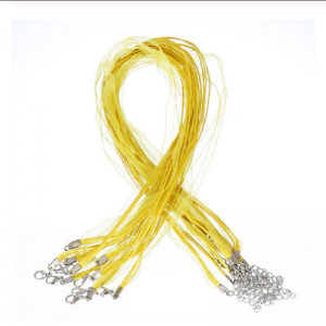Yellow Organza Ribbon Cord