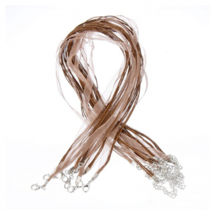 Brown Organza Ribbon Cord