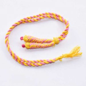 Yellow With Pink Twisted Cotton Thread Neck Rope