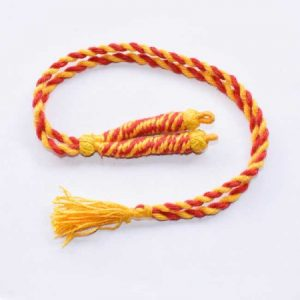 Yellow With Red Twisted Cotton Thread Neck Rope