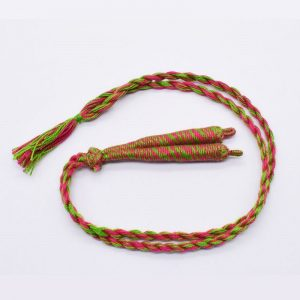 Parrot Green With Pink Twisted Cotton Thread Neck Rope