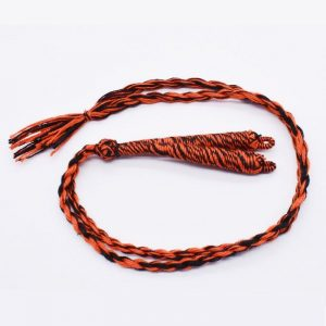 Orange With Black Twisted Cotton Thread Neck Rope