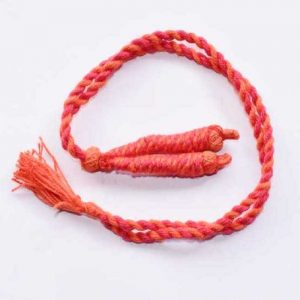 Orange With Pink Twisted Cotton Thread Neck Rope