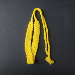 Lemon Yellow Double Braided Cotton Thread Neck Rope