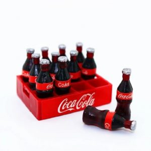 Miniature Coca Cola Bottles With Container