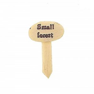 Miniature Signboard Small Forest