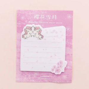 Unicorn Theme Square Sticky Notes Style 2