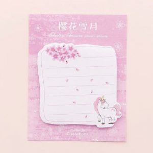 Unicorn Theme Square Sticky Notes Style 1