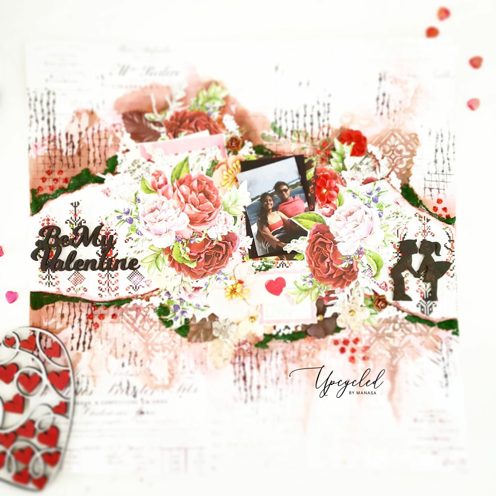 Valentine's Theme Mixed Media Layout                           By Manasa Priya