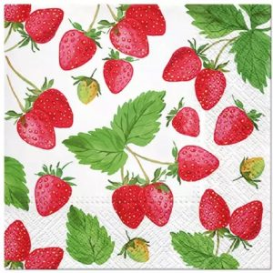 Strawberries Decoupage Napkin