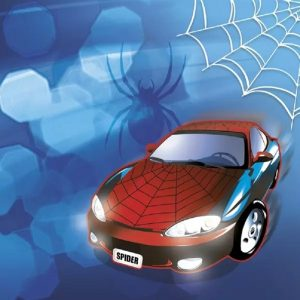 Spider Car Decoupage Napkin