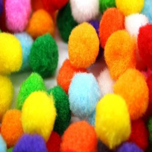 Mixed Colour Pom Poms 30 mm