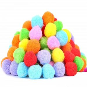 Mixed Colour Pom Poms 40 mm