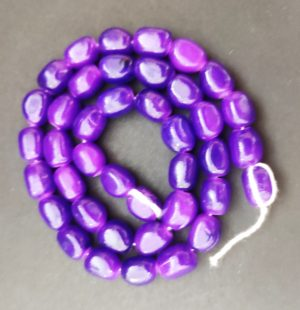 Purple Irregular Nugget Beads