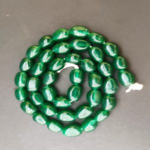 Green Irregular Nugget Beads