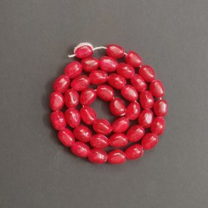 Double Shade Red Irregular Nugget Beads