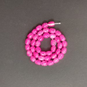 Double Shade Dark Pink Irregular Nugget Beads