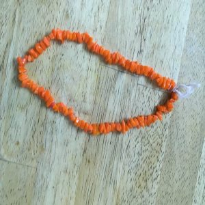 Glass Uncut Beads - Orange