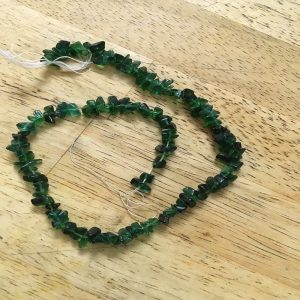 Glass Uncut Beads - Green