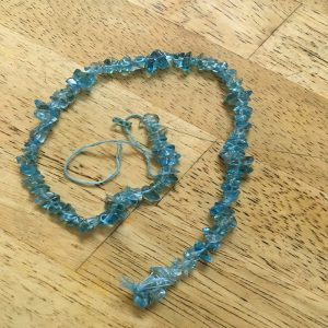 Glass Uncut Beads - Baby Blue