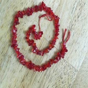 Glass Uncut Beads - Red