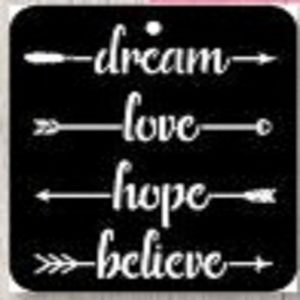 iCraft 4 x 4 Mini Stencil - Dream Love