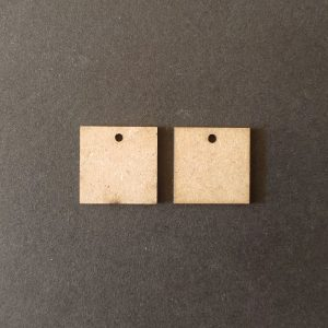 MDF Square With Single Hole