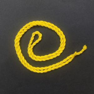 Lemon Yellow Long Twisted Cotton Thread Neck Rope