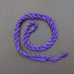 Purple Long Twisted Cotton Thread Neck Rope