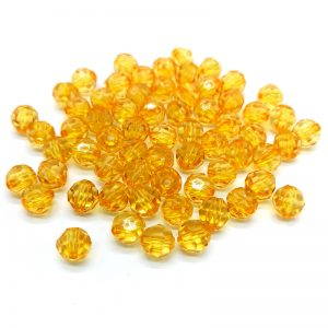 Transparent Acrylic Beads - Musted Yellow